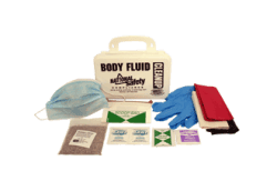 Body Fluid Spill-Clean-up Kit in Poly Box