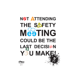 Safety Meeting Typography Safety Poster