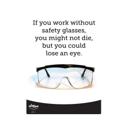 Safety Glasses, Lose an Eye Safety Poster