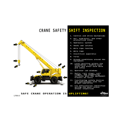 Crane Safety Shift Inspection Safety Poster