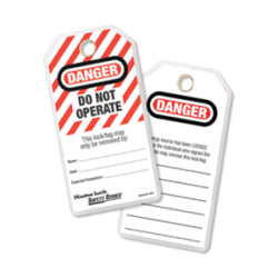 Do Not Operate Lockout Tagout ID Tags