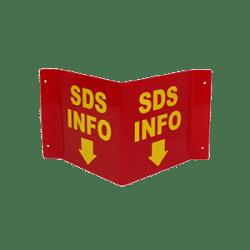 """SDS Info """"V"""" Sign"""
