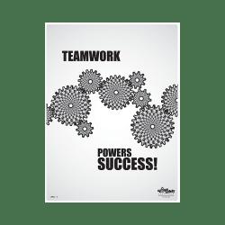 Teamwork Powers Success Poster