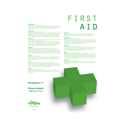 First Aid Informational Safety Poster