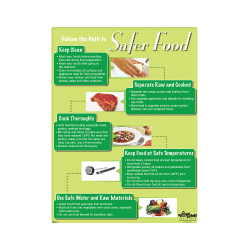 Safer Food, Follow the Path Safety Poster