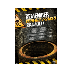 Confined Spaces Can Kill Safety Poster