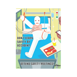 Attend Safety Meetings Safety Poster