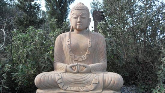 Buddha statue outside the hall