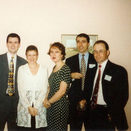 1996 Feb Risk Man Weekend - Team Dave - Ankur far right