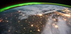 Timelapse of the International Space Station flying over Earth