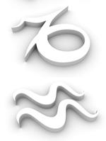 White scorpio symbol