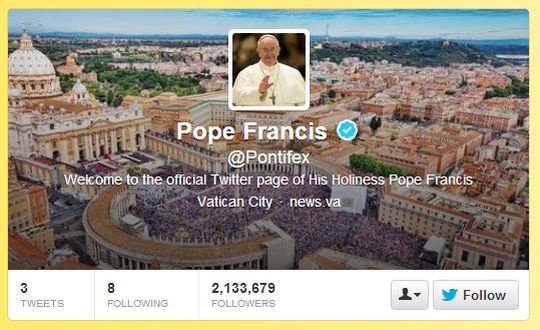 Pontifex Twitter Page