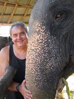 Yuri with elephants