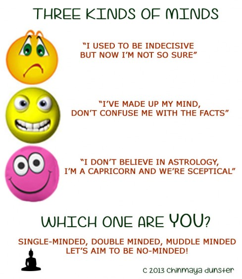 three kinds of minds cr chinmaya