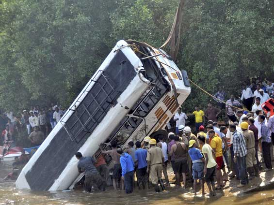 bus accident  PTI photo Hindustan Times
