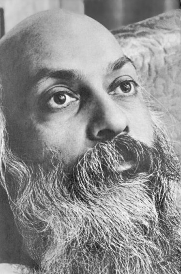Osho looking up
