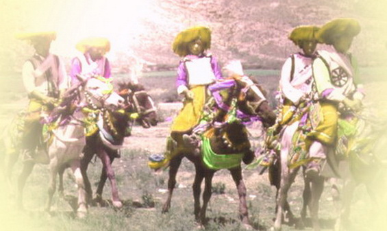 Men on horseback