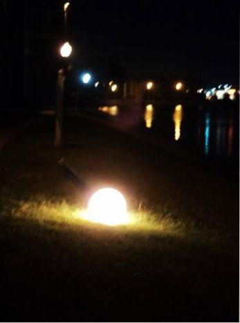 lamp on ground