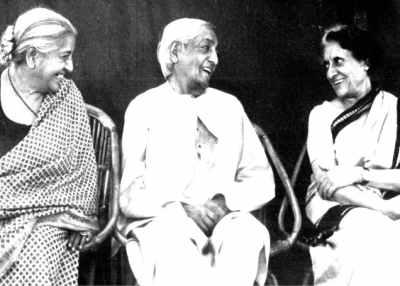 Krishnamurti and India Gandhi Rishi Valley