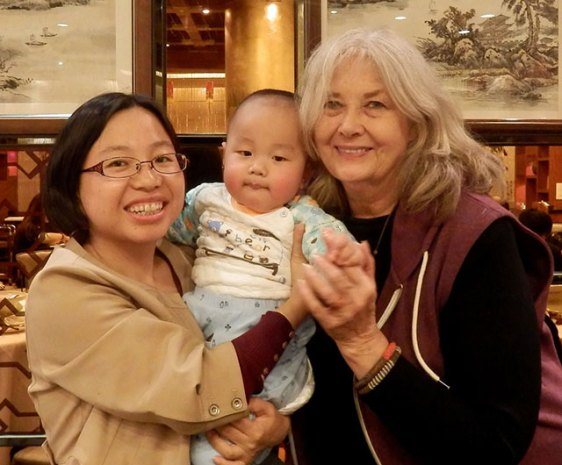 with my young friend, Yujie, and her baby, Xi, in Beijing
