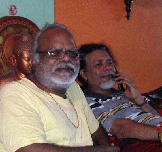 with-best-friend-rajendra-and-buddha
