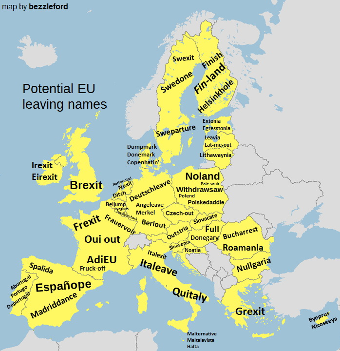 EU potential leaving names