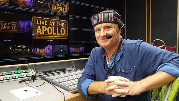 In the control room of Live at the Hammersmith Apollo