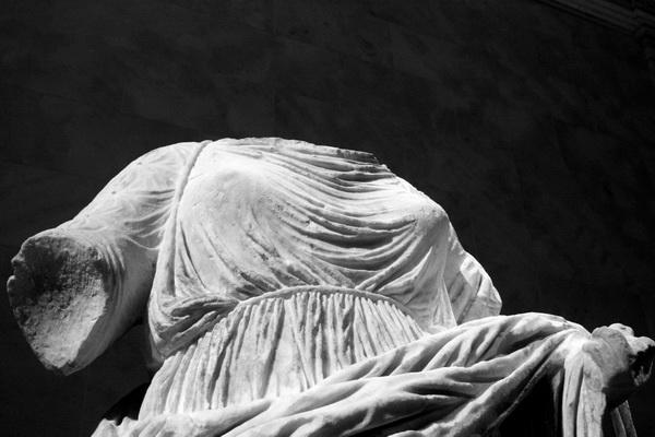Headless woman