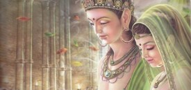 Buddha visits his wife after enlightenment