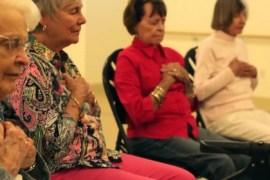 Elderly people meditating Feat