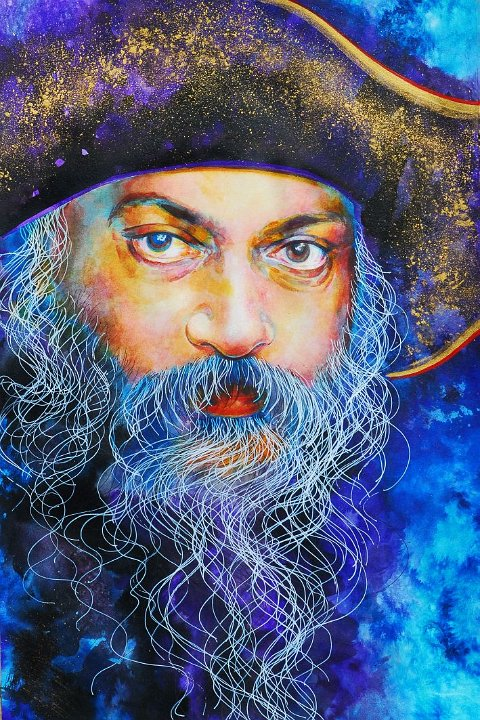 020 Portrait of Osho by Arhat 4