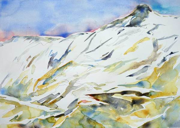 Lofoten in June, 76 x 56 cm, Watercolour