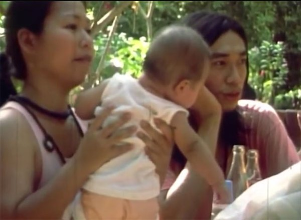 With husband, Sindhu, and baby - still from video 'Memories from Poona'