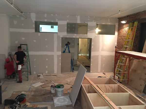 Construction work at Padma NYC