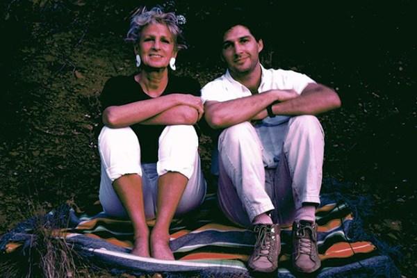 With her son, Devaprem, in Sedona, Arizona