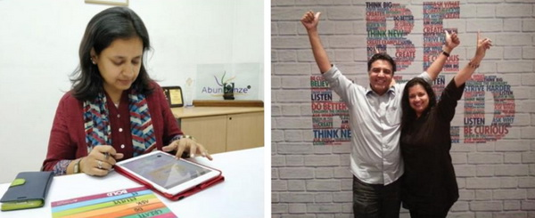 Namrata in Delhi and with husband