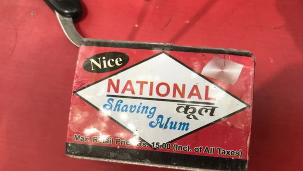Shaving alum