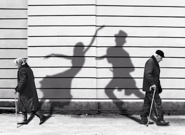 Couple and shadows