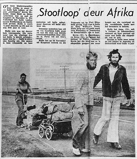One of the many press clipping, this one from Die Volksblad