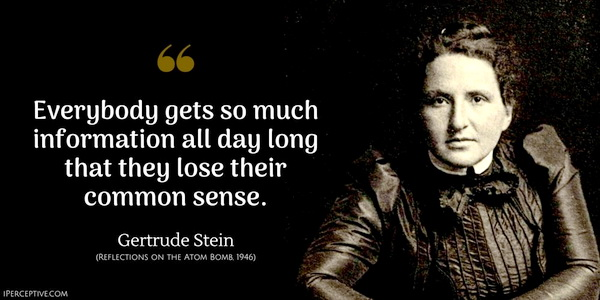 Gertrude Stein common sense
