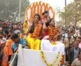 Indian transgender gurus in landmark Hindu procession