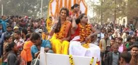 Indian transgender gurus in landmark Hindu procession