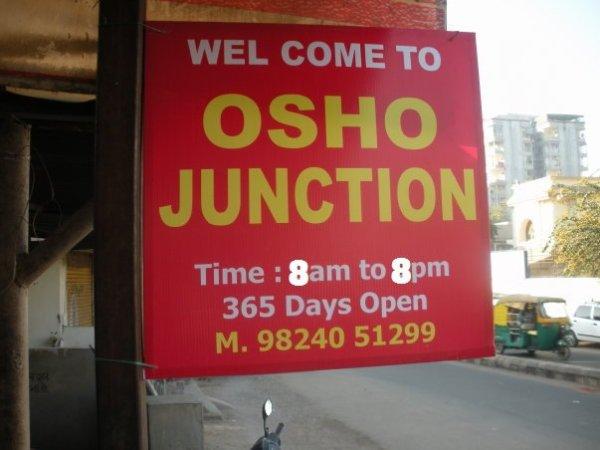 Osho Junction sign