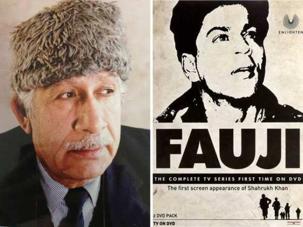 045 colonel-raj-kapoor-and-fauji-poster-featuring-shah-rukh-khan-r
