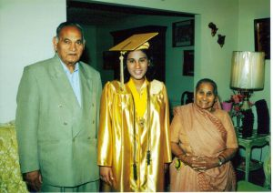 Delighted at their grand-daughter Meena's graduation in USA