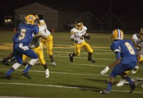 Nick Donaldson carries the ball in first half action
