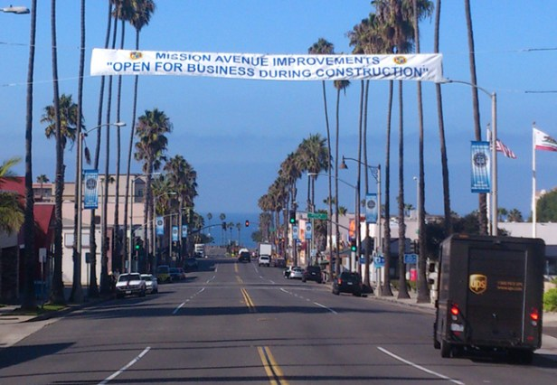 The first of many signs was put up over Mission Ave telling drivers of changes on the way.