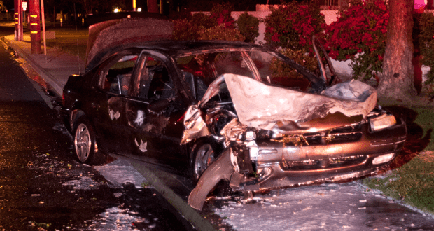 The Dodge Stratus was a total loss