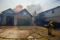 Homes on Black Rail Road were beyond help and allowed to burn with limited resources available to firefighters