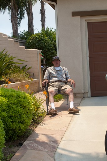 Arthur Oberman MD didn't have anywhere to go so he watched the action from his driveway on Martingale Ct.